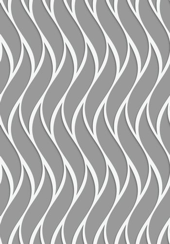 Perforated paper with wavy reticulated tile