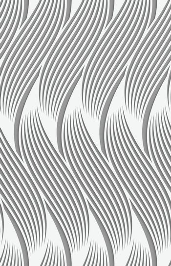 Perforated paper with wavy striped shapes