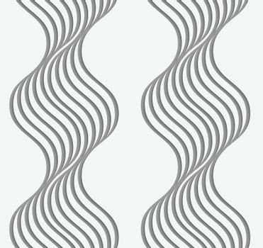 Perforated paper with wavy stripes