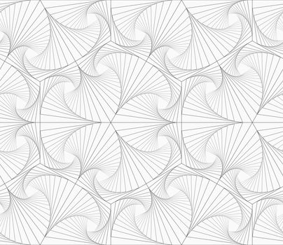 Gray striped overlapping shapes