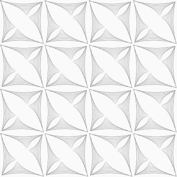 Gray striped triangular shapes in grid