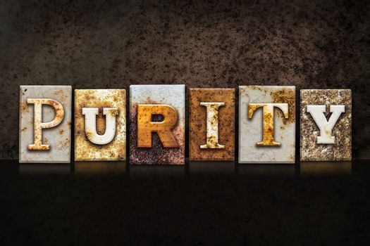 Purity Letterpress Concept on Dark Background