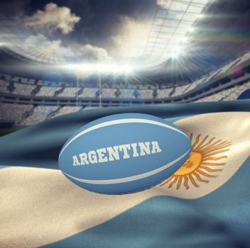 Composite image of argentina rugby ball