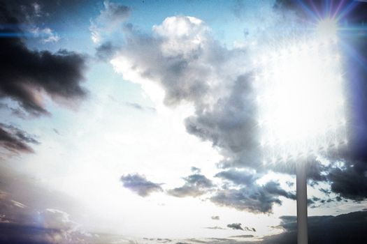 Composite image of spotlight