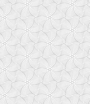 Gray wavy twisted rounded diamonds
