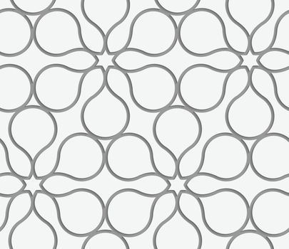 Perforated flower contour