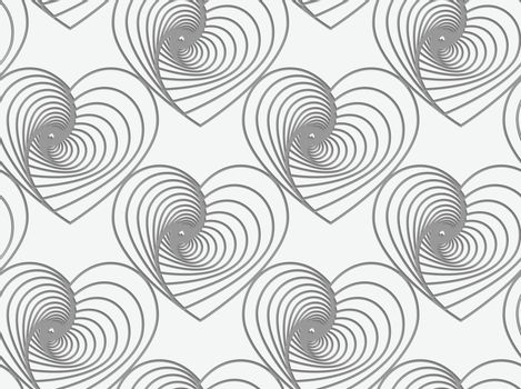 Perforated striped hearts