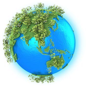 Southeast Asia and Australia on planet Earth
