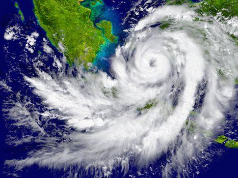 Hurricane over Southeast Asia