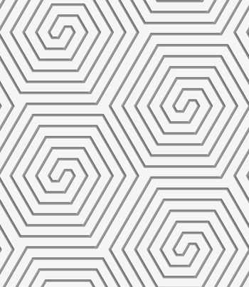 Perforated hexagonal connected spirals