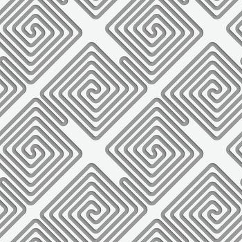 Perforated square diagonal spirals