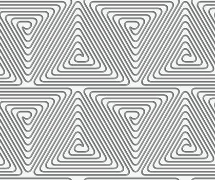 Perforated triangle connected spirals