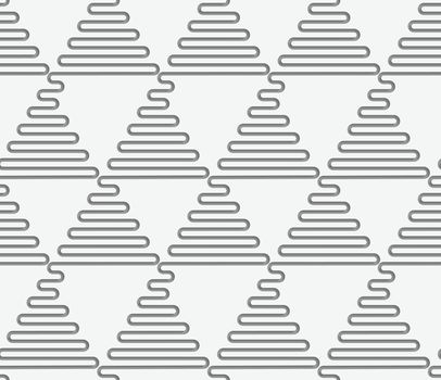 Perforated wavy triangles in rows