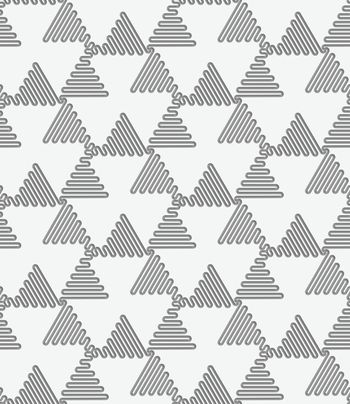 Perforated wavy triangles turned