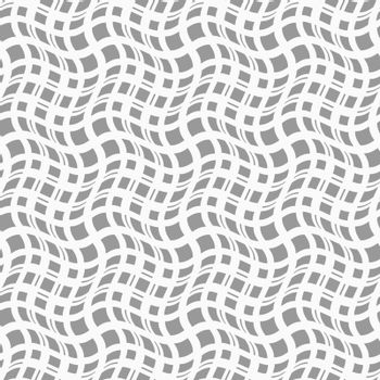 Gray seamless geometrical pattern. Simple monochrome texture. Abstract background.Slim gray wavy squares in different sizes.