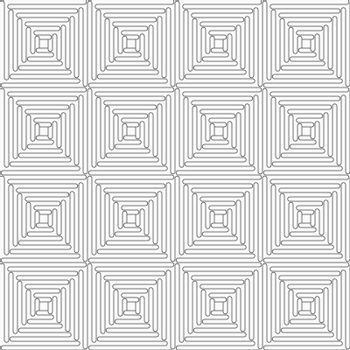 Gray seamless geometrical pattern. Simple monochrome texture. Abstract background.Slim gray wavy squares.