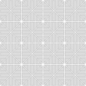 Gray seamless geometrical pattern. Simple monochrome texture. Abstract background.Slim gray wavy striped triangles in row.