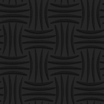 Seamless geometric background. Pattern with 3D texture and realistic shadow.Textured black plastic four stripes pin will.