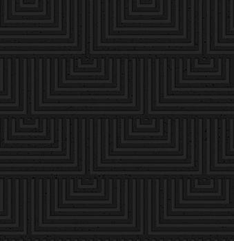 Textured black plastic overlapping squares