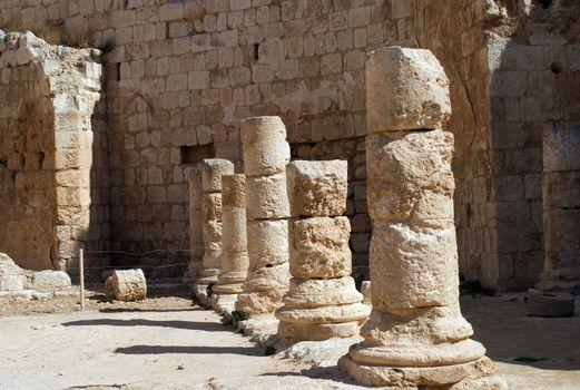 Herodion temple castle in Judea desert, Israel