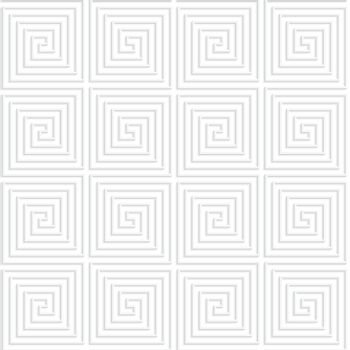 Paper white 3D geometric background. Seamless pattern with realistic shadow and cut out of paper effect.White paper 3D spiral connecting squares.
