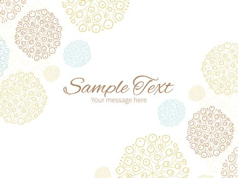 Vector blue brown abstract seaweed texture horizontal double corners frame invitation template graphic design