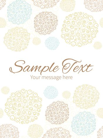 Vector blue brown abstract seaweed texture vertical double borders frame invitation template graphic design