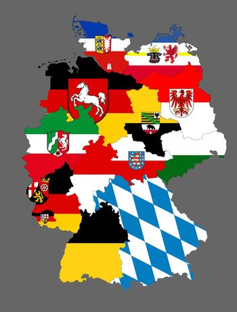germany regions flag map