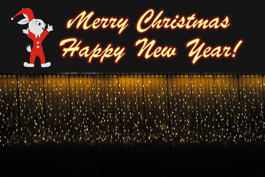 Christmas and New Year's background with festal image and greeting