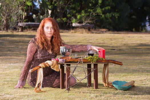 Beautiful Pagan Priestess