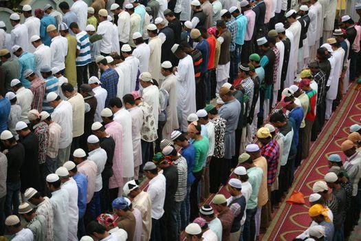 NEPAL - ISLAMIC FAITH - EID-AL-ADHA - MUSLIM - MOSQUE