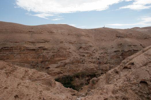 Wadi celt judean desert travel attraction in Israel
