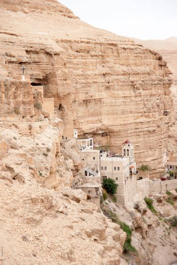 Judean desert in Israel christian holy place monastery