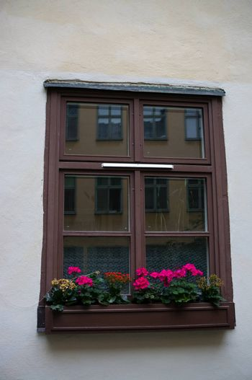 Europe old city windows in sweden travel