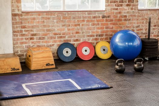 Exercise equipment at the gym