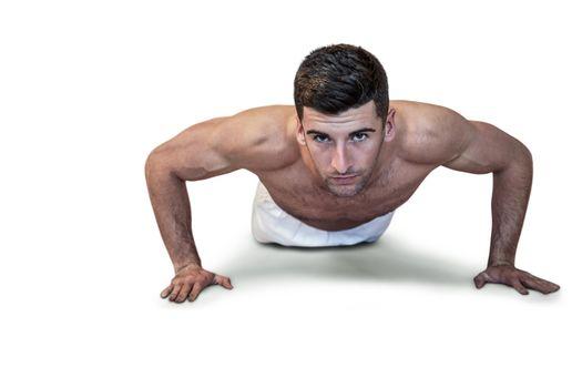 Man doing push up