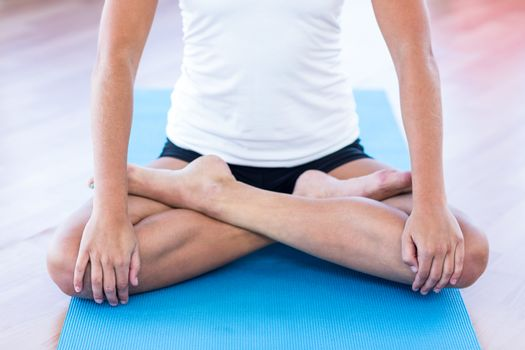 Woman doing lotus posture