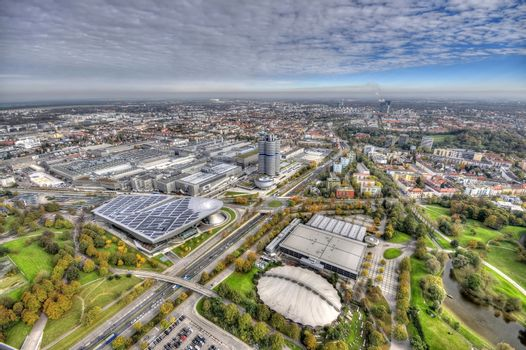Munich Olympiapark from the TV tover