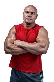 Portrait of confident bodybuilder