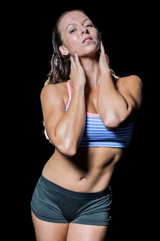 Portrait of seductive athlete