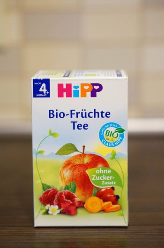 POZNAN, POLAND - SEPTEMBER 24, 2015: Hipp fruit tea for babies in a box