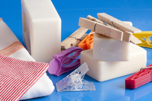 soap, clothes and laundry