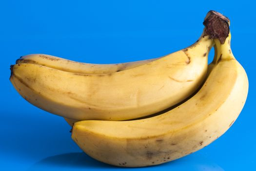 small bunch of ripe bananas