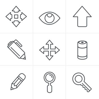 Line Icons Style Set of Icons Set, Vector Design