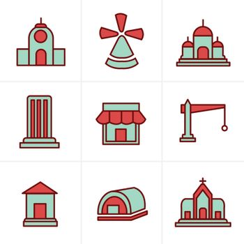 Icons Style Icons Style  Set of house icons