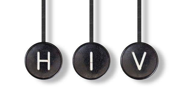 Typewriter buttons, isolated - HIV