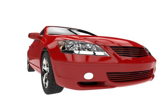 Red Car Headlights