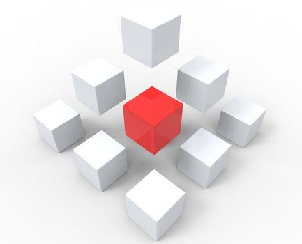 Unique Cubes Pyramid