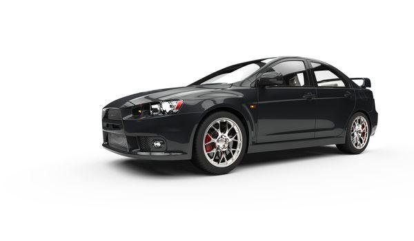 Black Race Car Showroom
