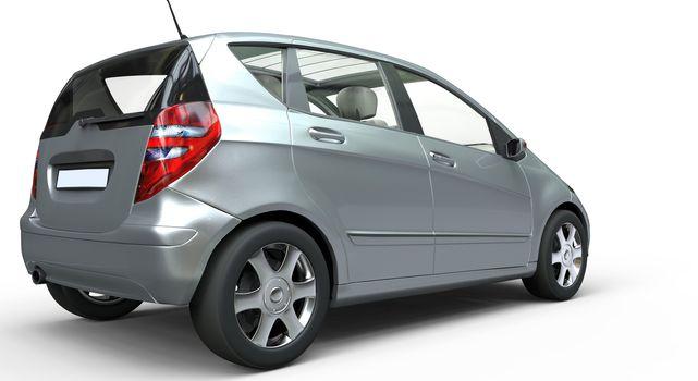 Modern Compact Car Chrome